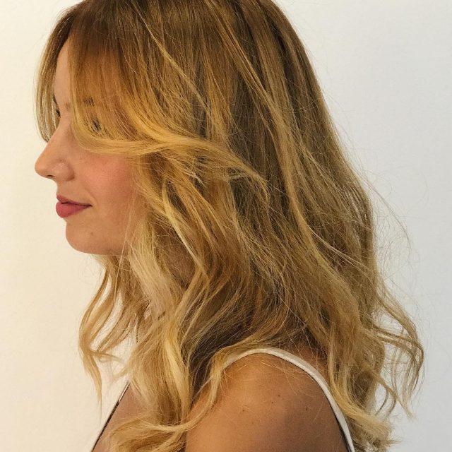 Trabajo de balayage y corte para Mari Angeles hairdresser fuengirolahellip